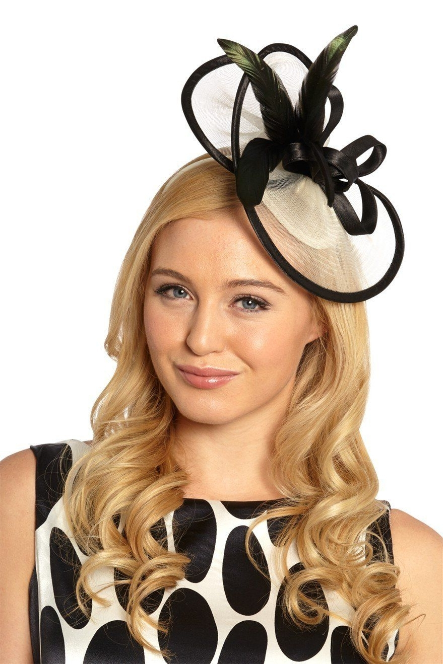 Roman Originals – Womens Hats Fascinators Contrast Feather And Within Latest Wedding Guest Hairstyles With Fascinator (View 11 of 15)