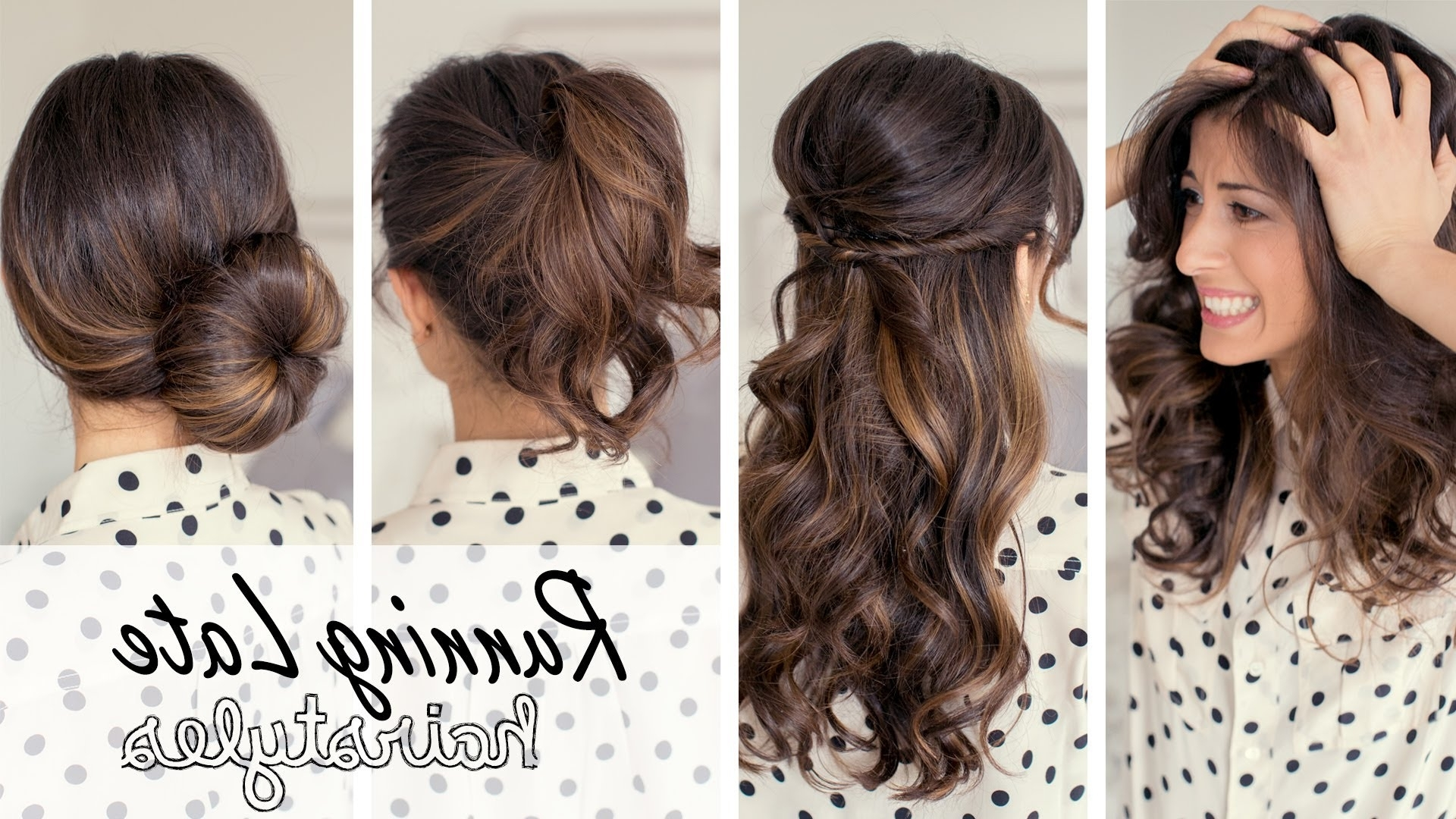 Running Late Hairstyles – Youtube Throughout Fashionable Quick Wedding Hairstyles (View 13 of 15)
