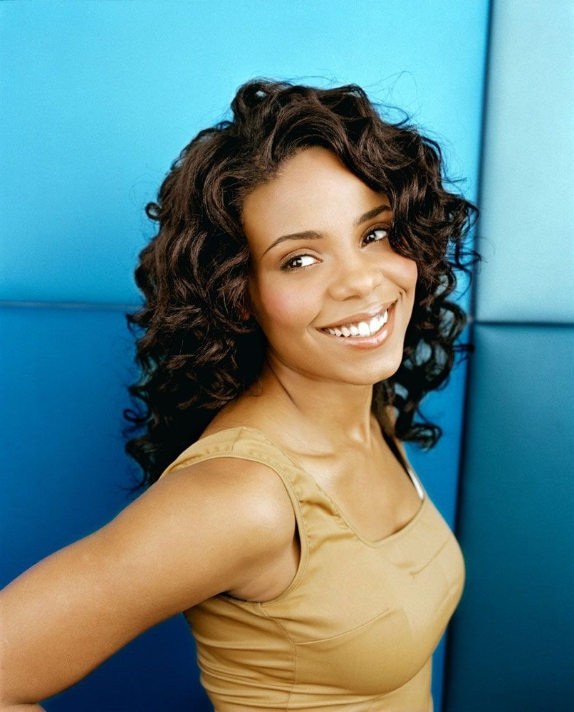 Sanaa Lathan Medium Length Black Curly Hairstyles (View 11 of 15)