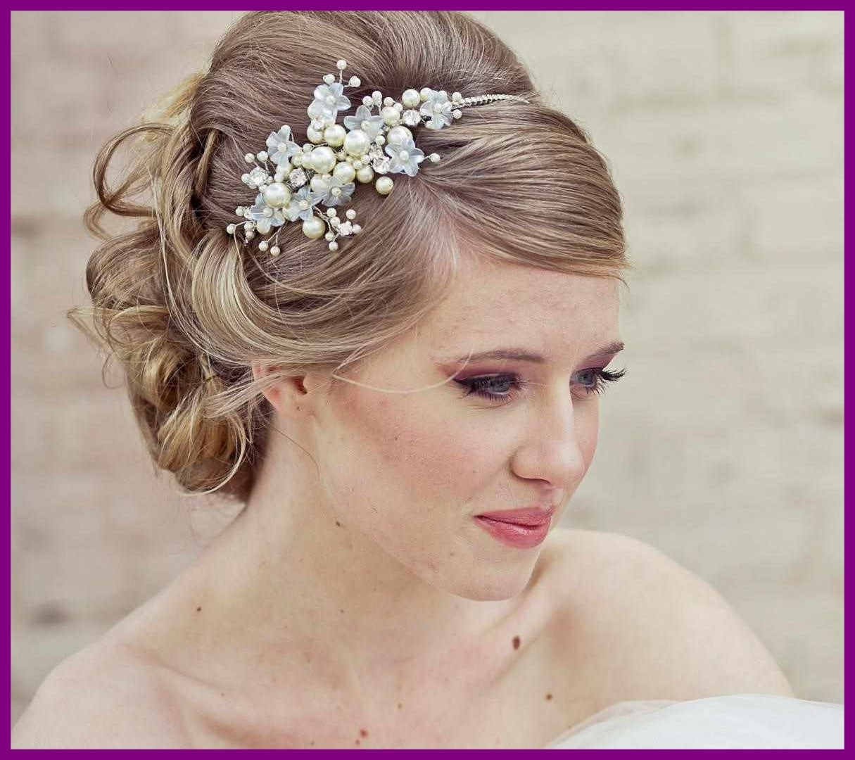 Photo Gallery Of Wedding Hairstyles With Hair Piece Viewing 14 Of