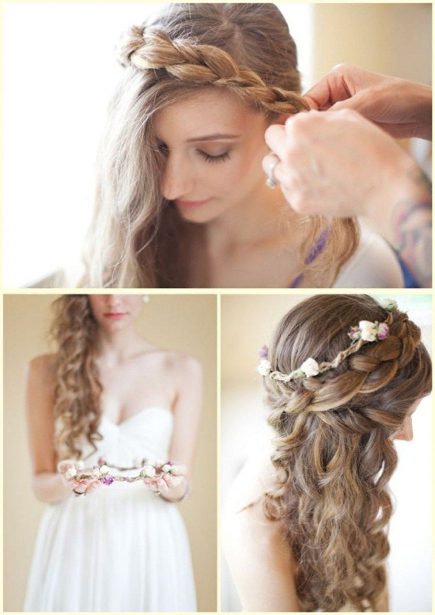 Shocking Wedding Hairstyles For Bridal Of Bridesmaids With Medium Inside Well Known Bridal Hairstyles For Medium Length Thin Hair (View 12 of 15)