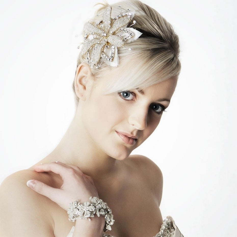 Short Bridal Hairstyles Beauty In Simplicity Look Pretty With Ideas For Well Liked Wedding Hairstyles For Short Hair Bridesmaid (View 14 of 15)