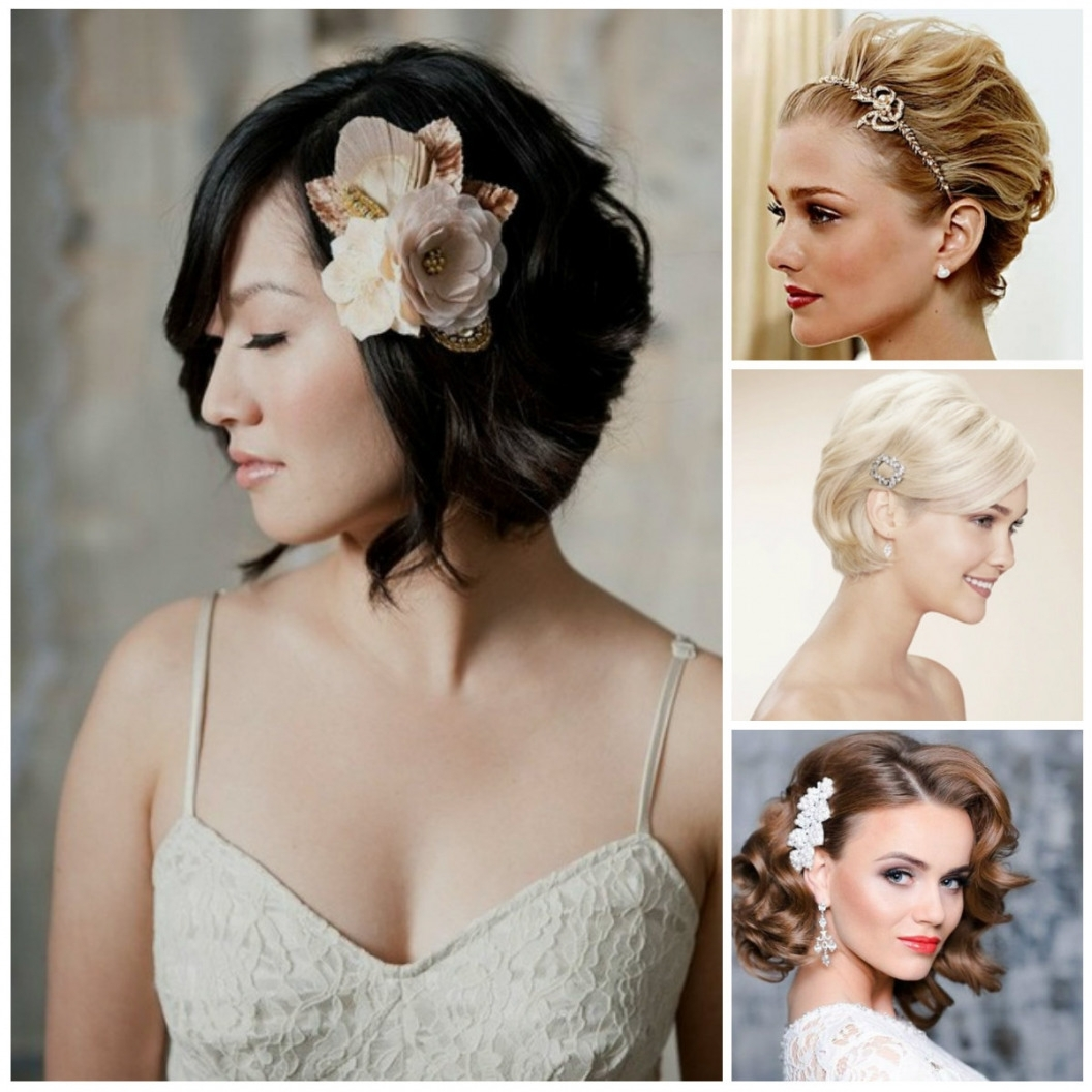 Short Hairstyles Bridesmaid Hair Ideas Look Pretty With Bridal Within Most Recent Wedding Hairstyles On Short Hair (View 7 of 15)