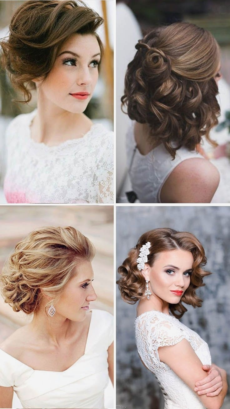 Short Hairstyles For Wedding Ideas Medium Hairtyling Bridesmaid Bob Intended For Current Wedding Hairstyles On Short Hair (View 8 of 15)