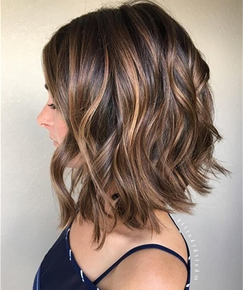 Shoulder Length Wavy Hairstyle Human Hair Bob Wigs For Women Regarding Most Up To Date Wedding Hairstyles For Medium Length Wavy Hair (View 11 of 15)