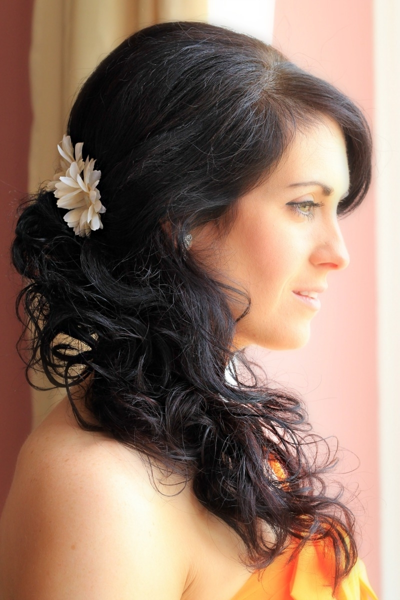 Side Curls Wedding Hairstyles Amelia Garwood – Wedding Hair & Make With Regard To Well Liked Norwich Wedding Hairstyles (View 11 of 15)