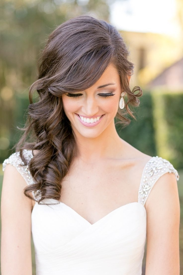 Sidepdo Wedding Hair Ponytail With Curls Swept Hairstyle Curly Bun Within Most Recent Curls To The Side Wedding Hairstyles (View 12 of 15)
