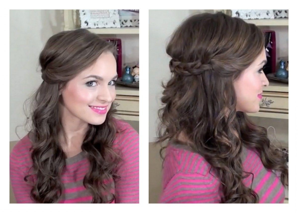 Simple Half Up Hairstyle My Bridesmaids Hairstyles Youtube For With Most Recent Elegant Wedding Hairstyles For Bridesmaids (View 10 of 15)
