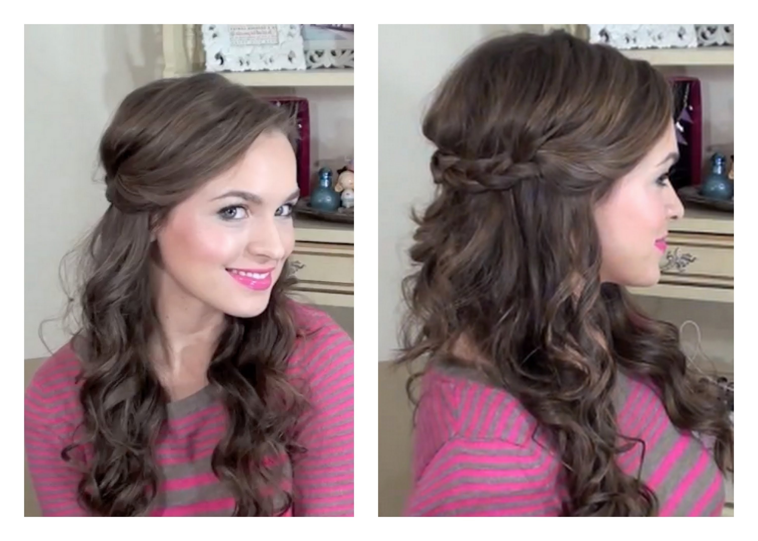Simple Half Up Hairstyle – My Bridesmaids Hairstyles – Youtube Throughout Most Current Cute Easy Wedding Hairstyles For Long Hair (View 13 of 15)
