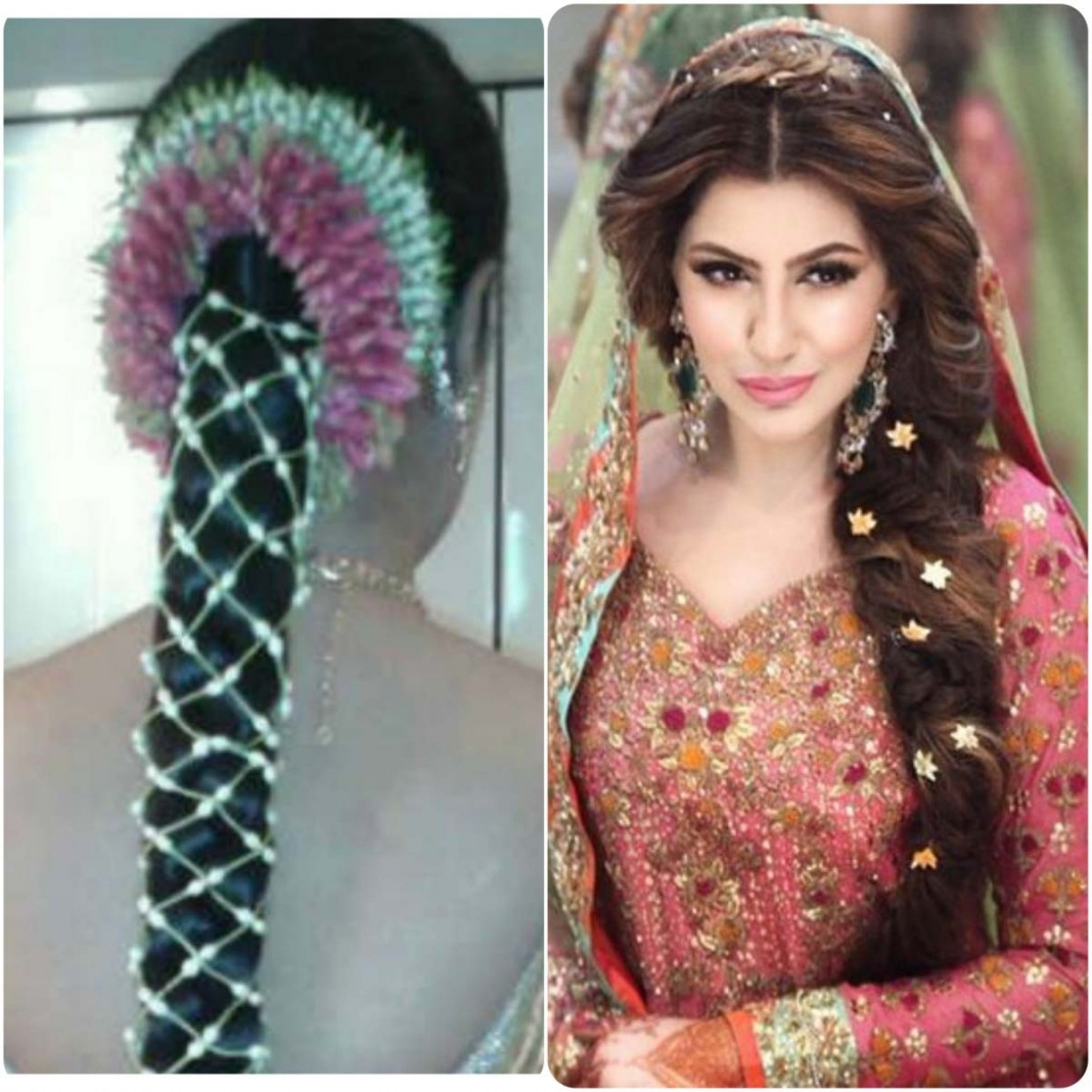 Simple Indian Bridal Hairstyles For Long Hair Trend Hairstyle 50Th With 2018 Simple Indian Bridal Hairstyles For Medium Length Hair (View 12 of 15)