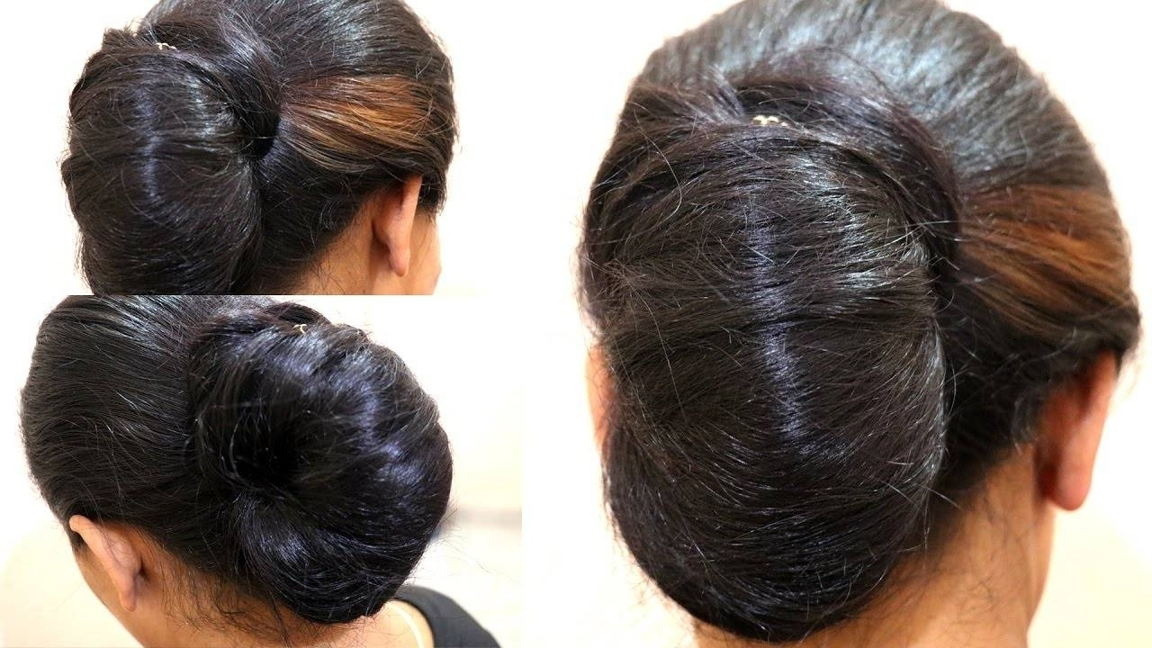 Simple Juda Messy Bun In A Minute Indian Wedding Juda Diy – Hairstyle Inside Current Wedding Juda Hairstyles (View 2 of 15)