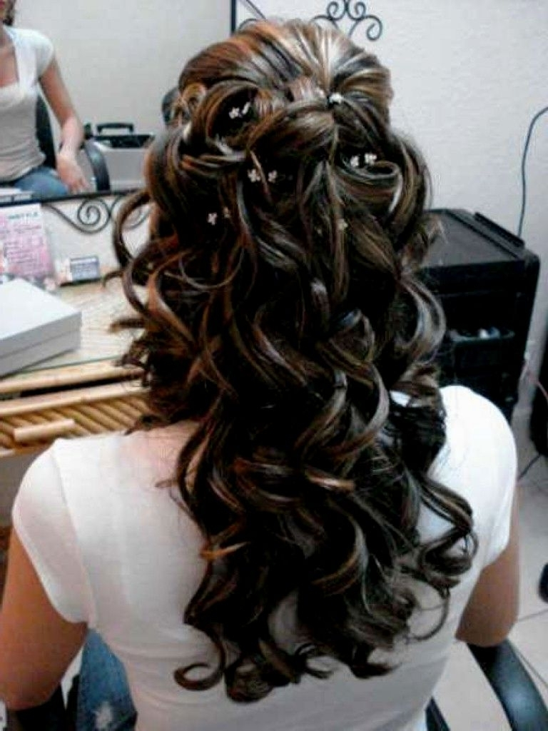Simple Wedding Hairstyles For Long Hair Half Up 24 For Your For Most Popular Half Up Wedding Hairstyles For Long Hair (View 12 of 15)
