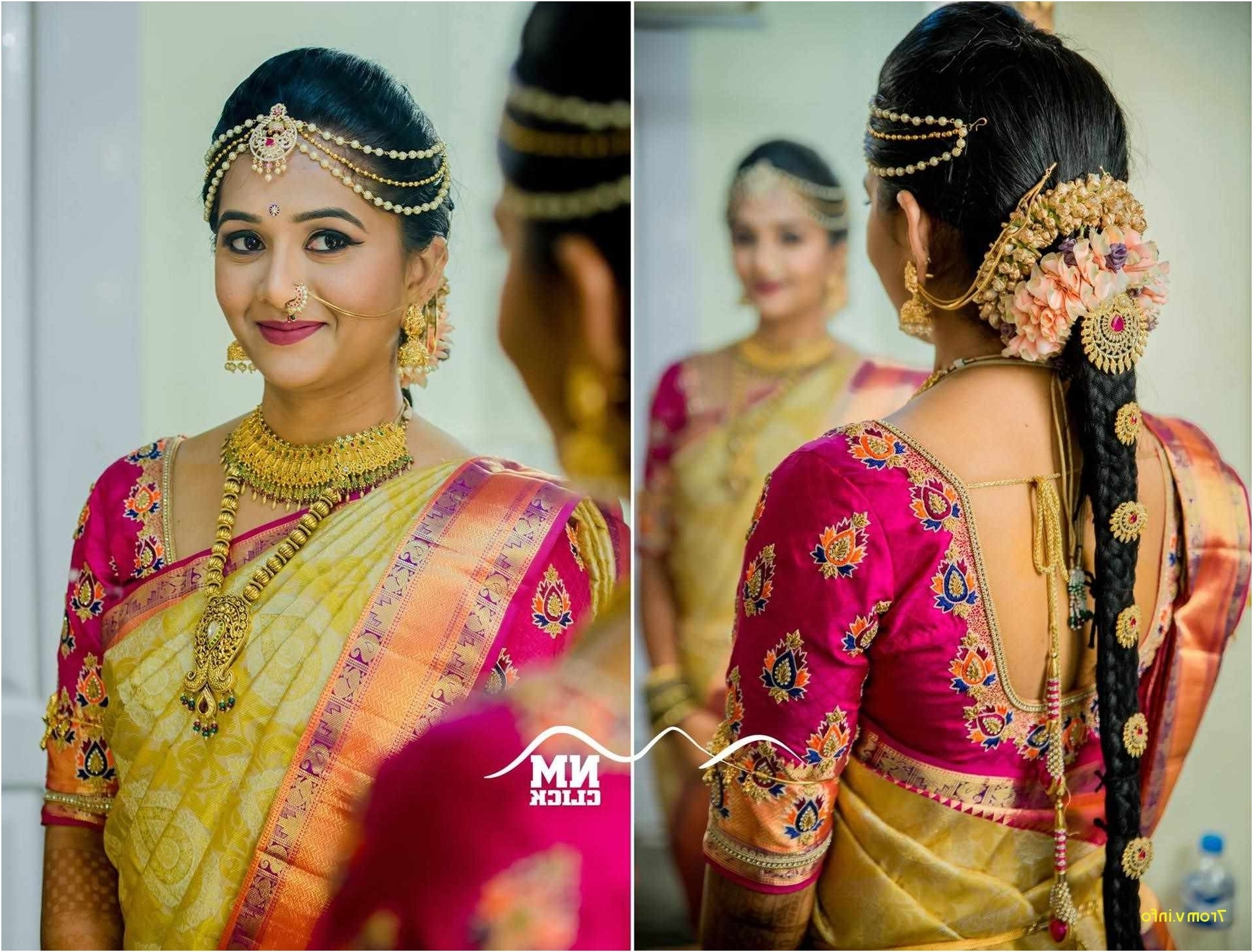 South Indian Bridal Hairstyles For Long Hair Elegant Traditional With Well Known South Indian Wedding Hairstyles (View 12 of 15)