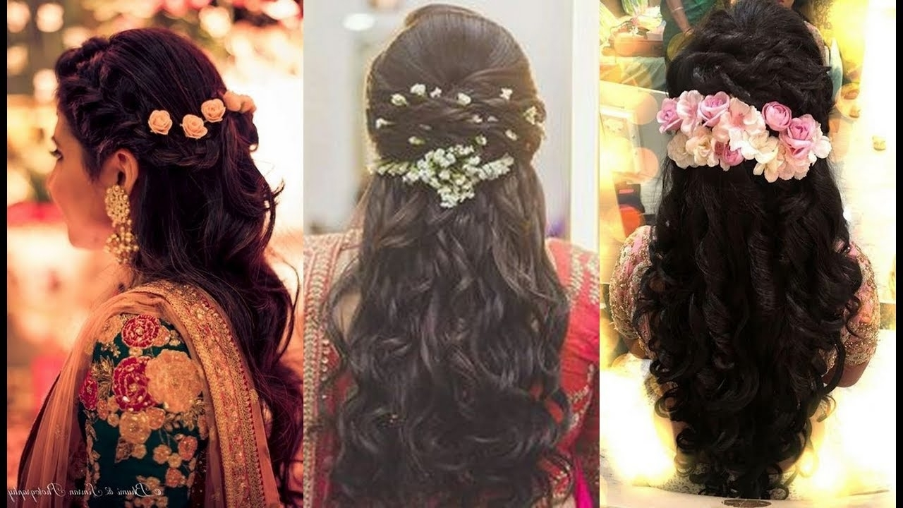 South Indian Bridal Hairstyles For Reception/north Indian Bridal With Regard To Recent Wedding Reception Hairstyles For Indian Bride (View 4 of 15)