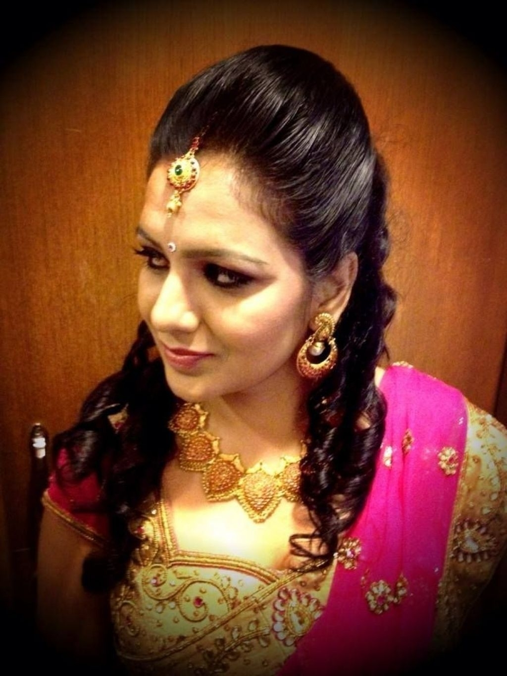 South Indian Bridal Reception Hairstyle Indian Bridal Hairstyles In Most Recent Wedding Reception Hairstyles For Indian Bride (View 7 of 15)