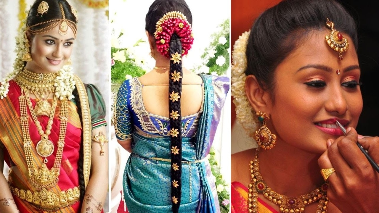 South Indian Wedding Hair Style South Indian Bridal Saree Draping Within Well Known Indian Wedding Hairstyles For Long Hair On Saree (View 2 of 15)