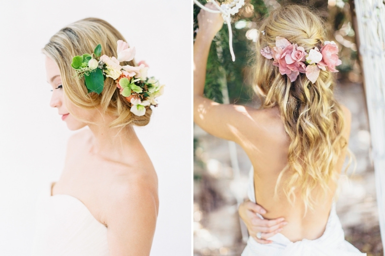 Southbound Bride Inside Well Known Wedding Hairstyles With Flowers (View 7 of 15)
