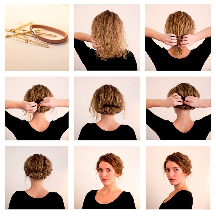 Spectacular Easy Hairstyles For Short Hair To Do At Home 74 For Your With Widely Used Easy Bridesmaid Hairstyles For Short Hair (View 14 of 15)