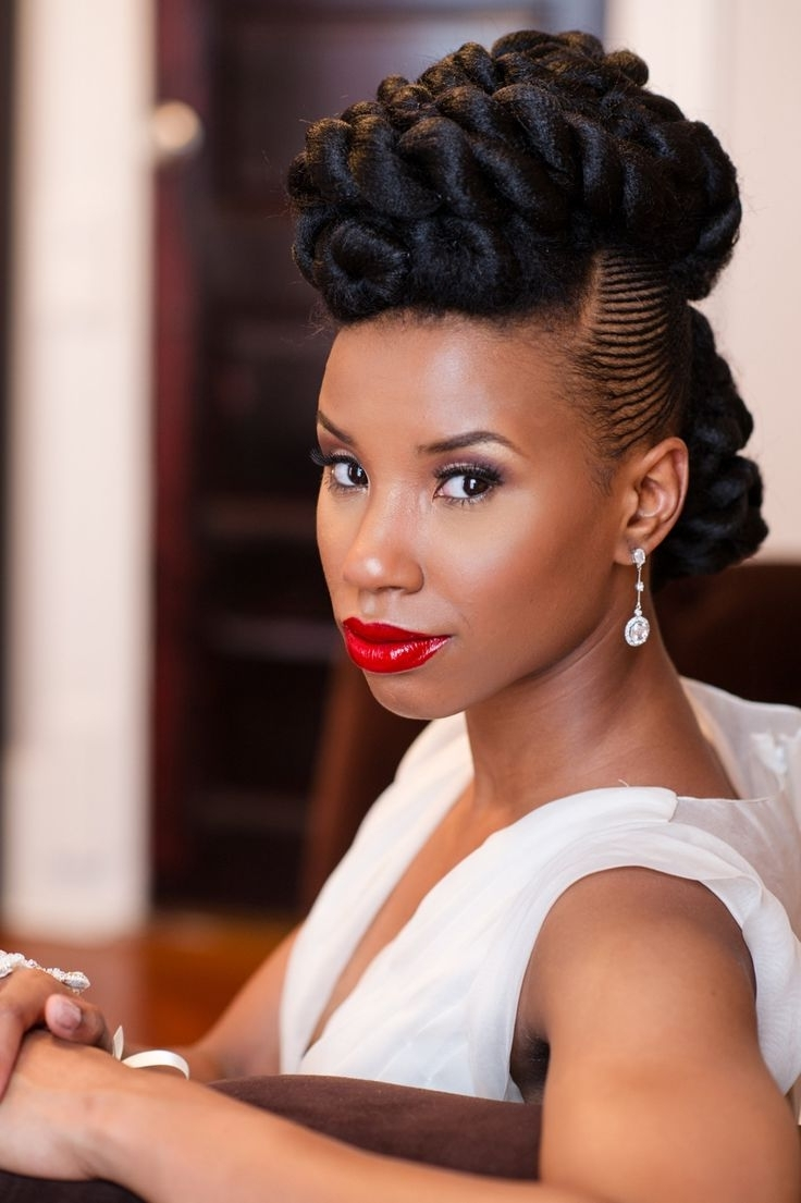 Stirring Wedding Hairstyles For Black Brides Ideas African With Regard To 2018 Short Wedding Hairstyles For Black Bridesmaids (View 11 of 15)