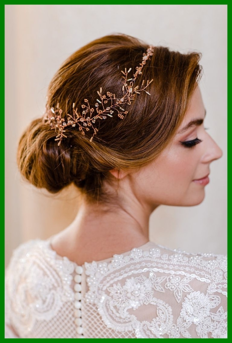 Stunning Best Bridal Hairstyles Image For Wedding Short Dark Hair Throughout Newest Wedding Hairstyles For Short Dark Hair (View 10 of 15)