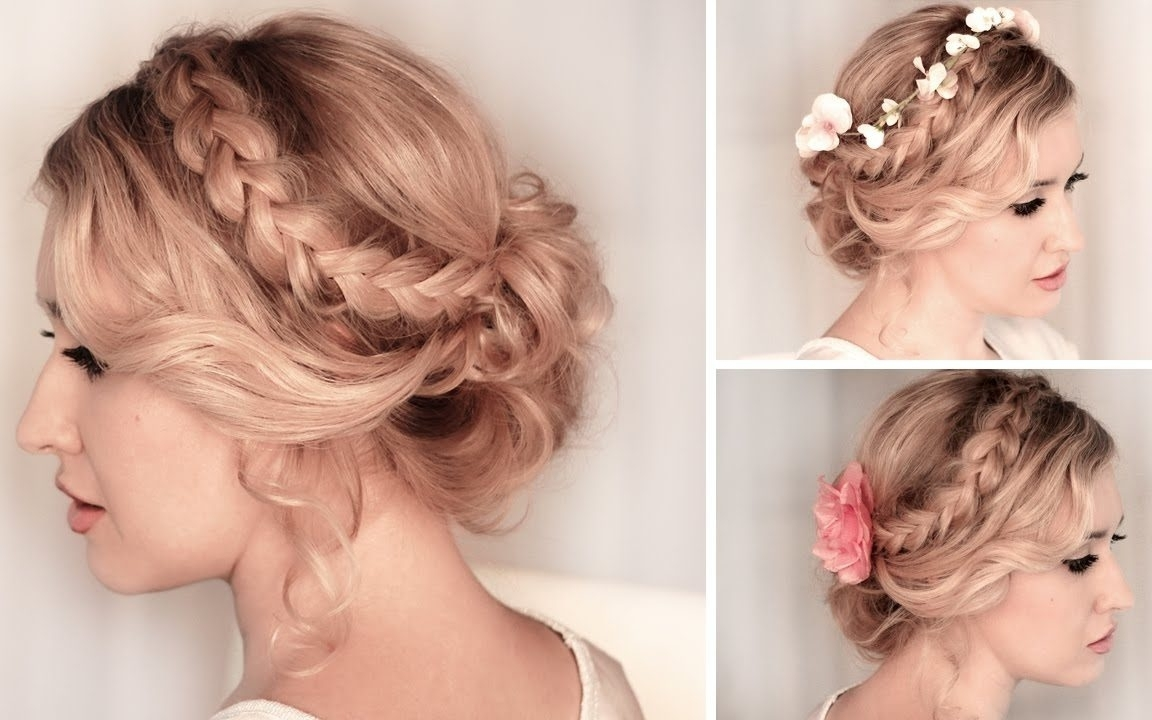 Stunning Wedding Hairstyles For Medium Length Ideas Hair Down Half Intended For Current Wedding Hairstyles For Medium Length Thin Hair (View 12 of 15)