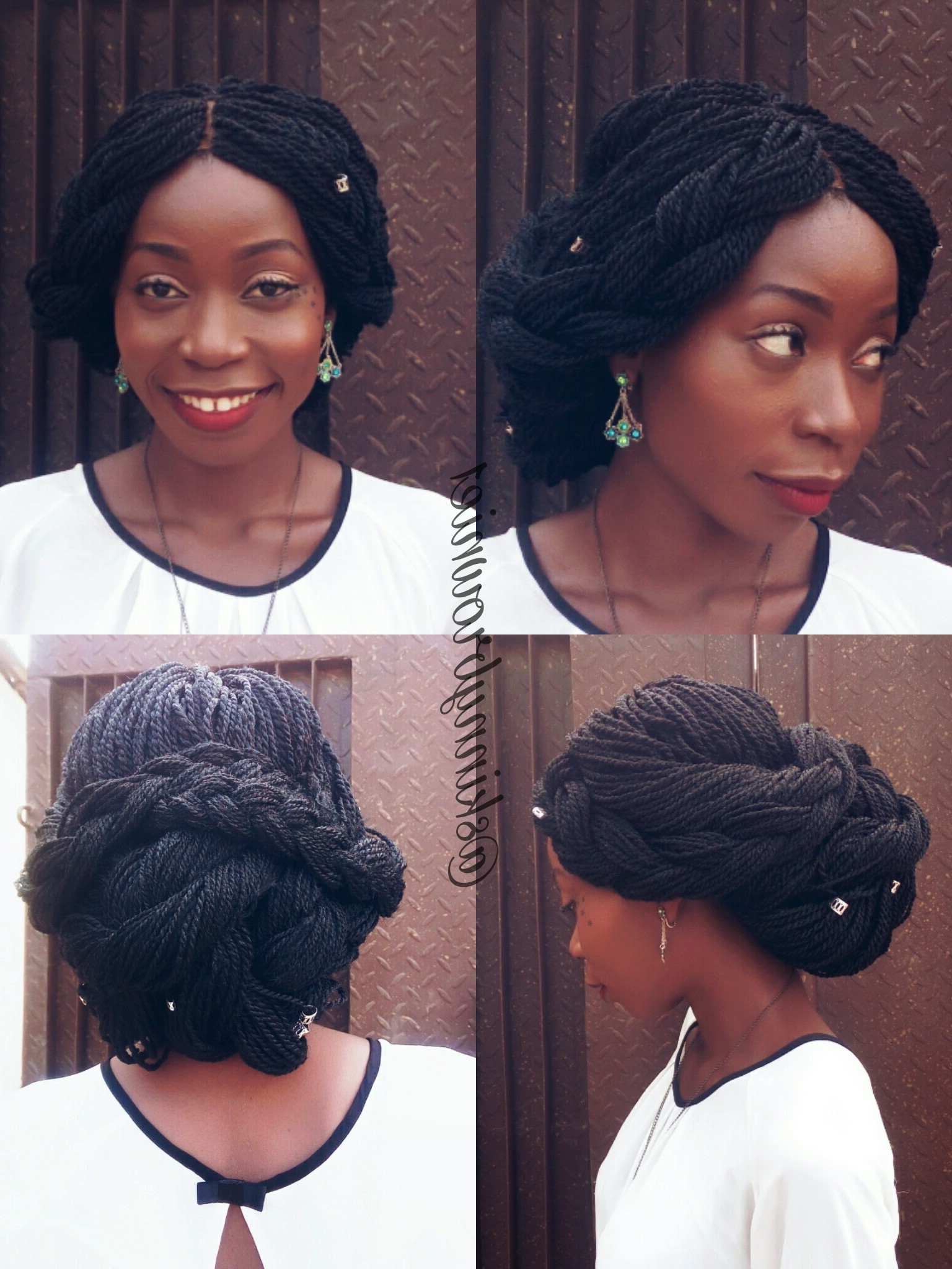 Styling Braid Wigs /box Braids : Seven Beautiful Style Ideas Within Well Liked Wedding Hairstyles With Box Braids (View 14 of 15)