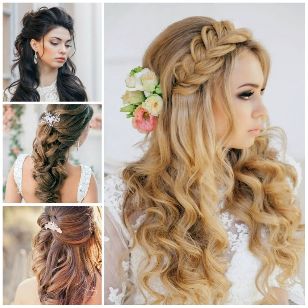 Photo Gallery Of Wedding Hairstyles For Medium Length Straight Hair