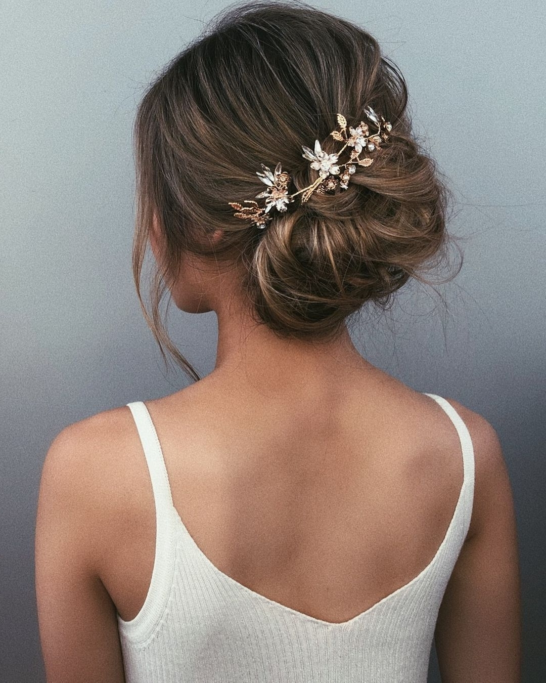 Textured Wedding Updo Hairstyle ,messy Updo Wedding Hairstyles In Famous Messy Updos Wedding Hairstyles (View 4 of 15)
