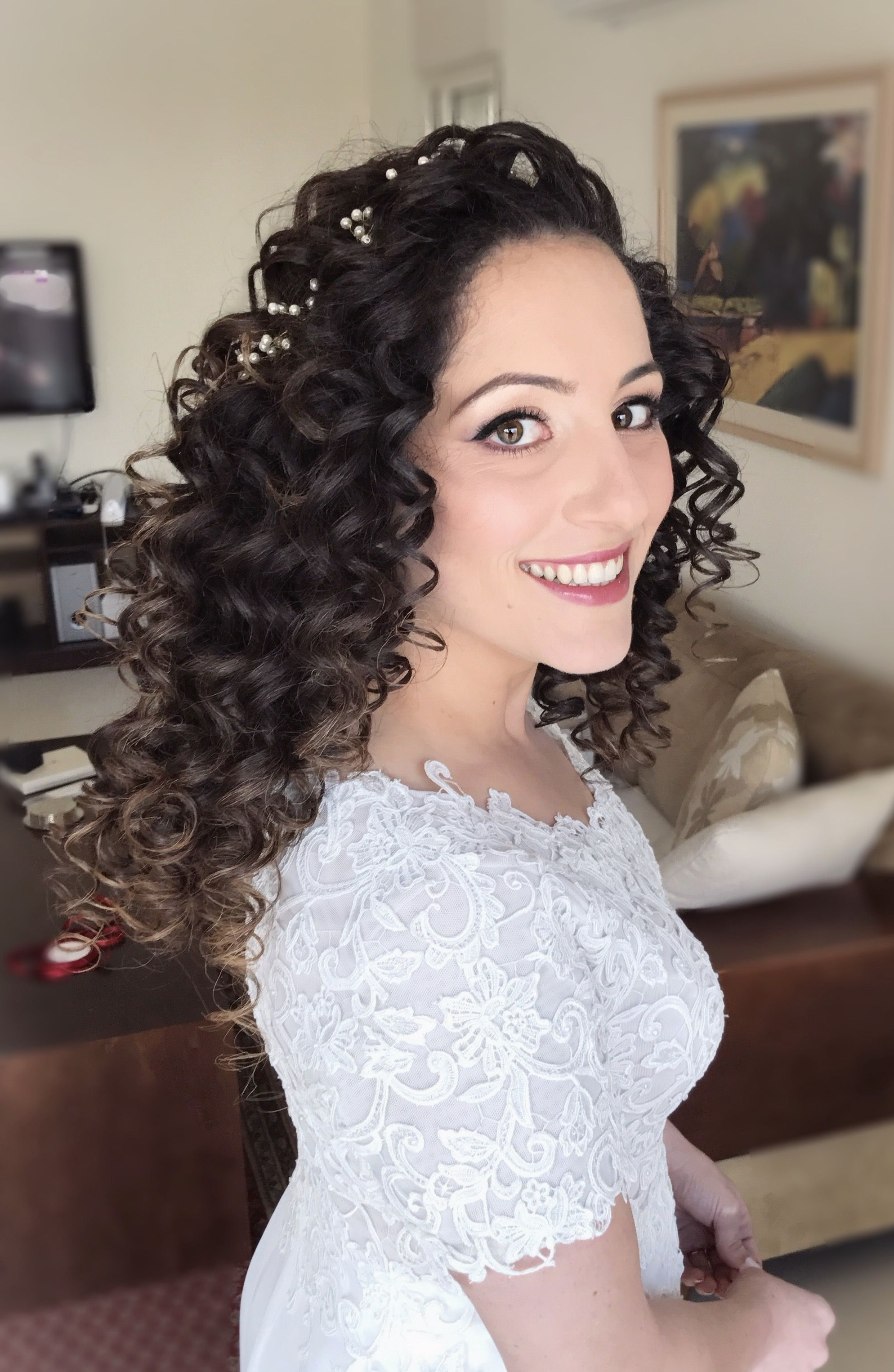 The Beautiful Noa❤❤ Hair & Makeup – #yafitkoresh Wedding Dress With Most Recent Wedding Hairstyles And Makeup (View 10 of 15)