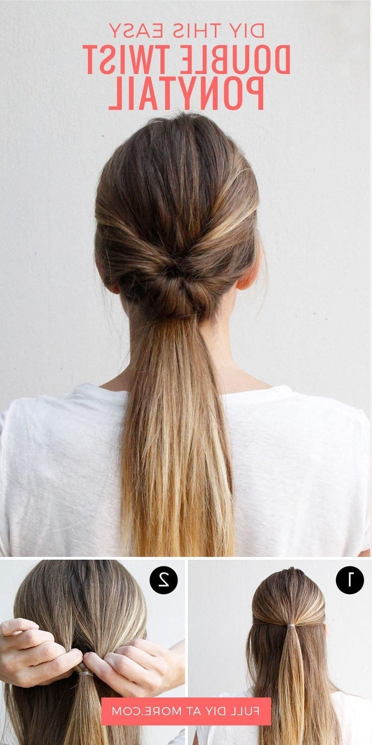 This Double Twist Ponytail Is The Perfect Five Minute Hairstyle Pertaining To Newest Bouffant Quiff Ponytail Wedding Hairstyles (View 14 of 15)