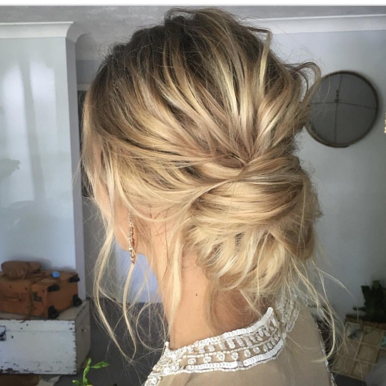 This Low Twisted Bun Is What Textured Hair Dreams Are Made Of! We Pertaining To Popular Low Bun Wedding Hairstyles (View 12 of 15)