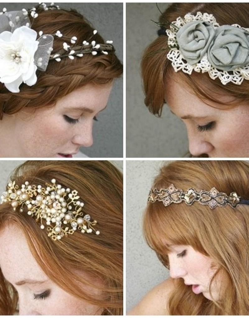 Top 25 Wedding Hairstyles Vintage Wedding Short Hairstyle Pertaining To Favorite Wedding Hairstyles With Hair Piece (View 11 of 15)