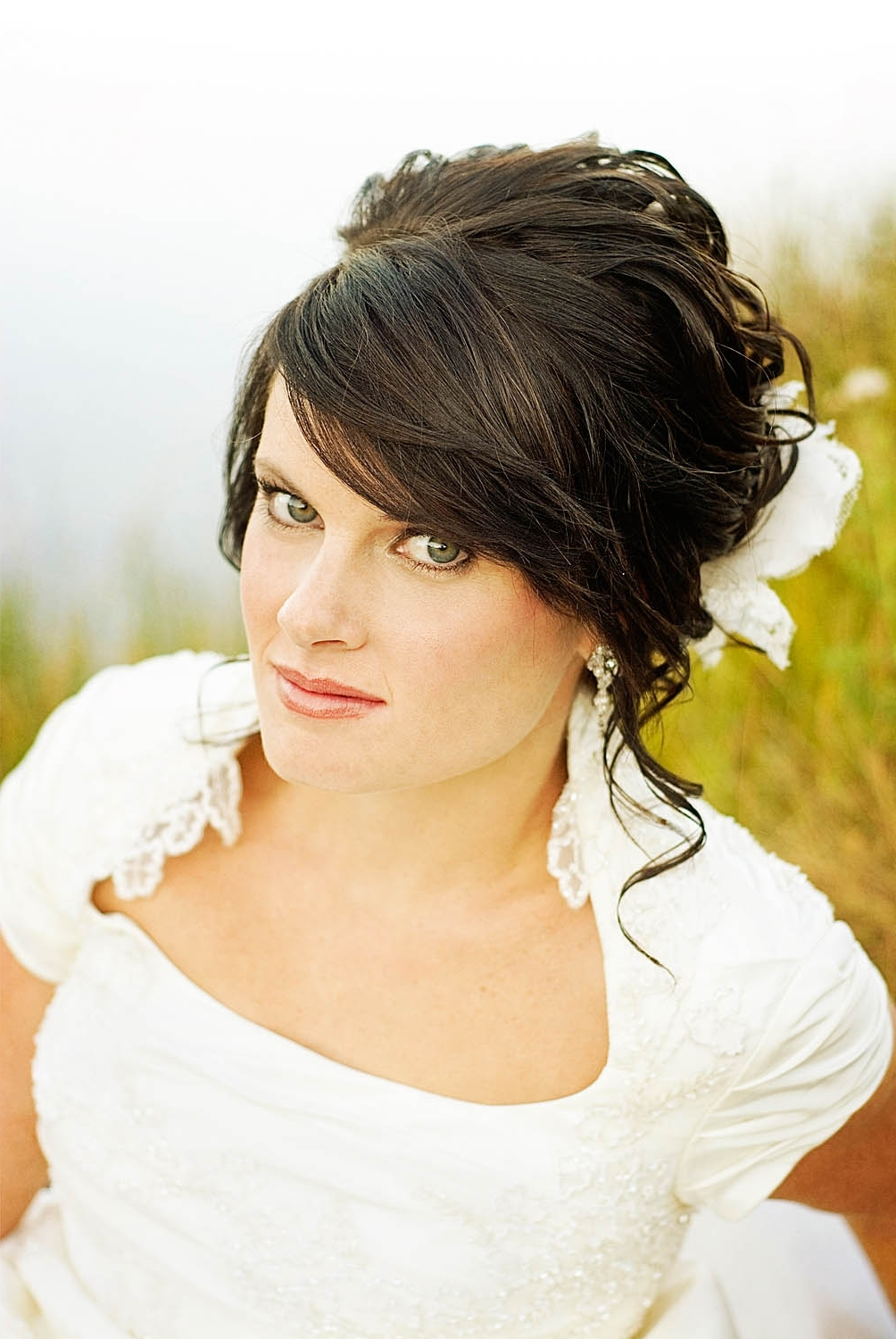 Top Hairstyles For Preferred Wedding Hairstyles For Short Hair With Fringe (View 9 of 15)