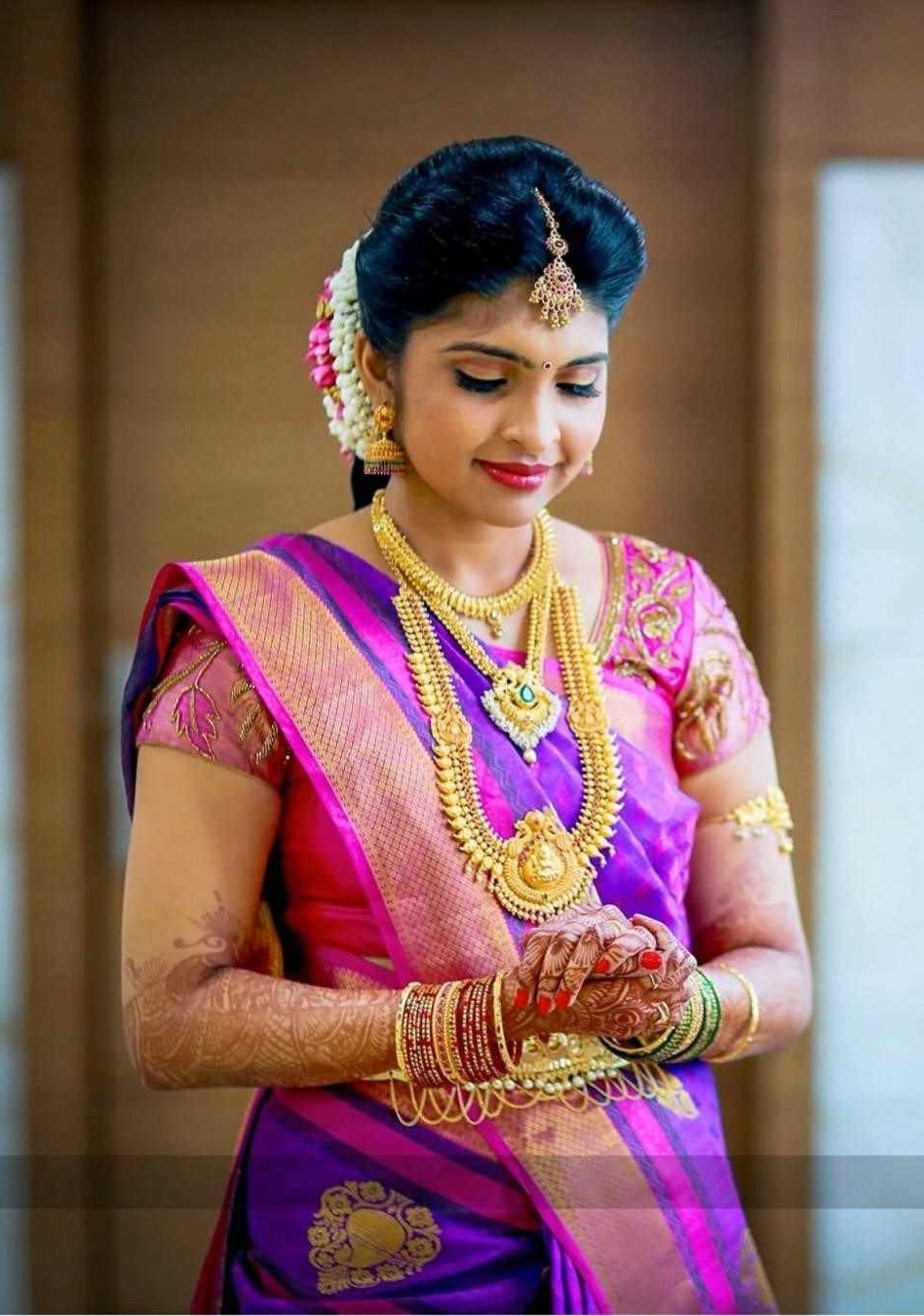 Tradition And Wedding Pin Reception Hairstyles For Sareeamulya Throughout Famous Wedding Hairstyles For Sarees (View 10 of 15)