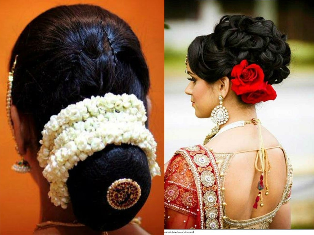 Traditional Indian Wedding Hairstyles New Indian Bridal Bun Inside Most Recent Indian Bun Wedding Hairstyles (View 15 of 15)