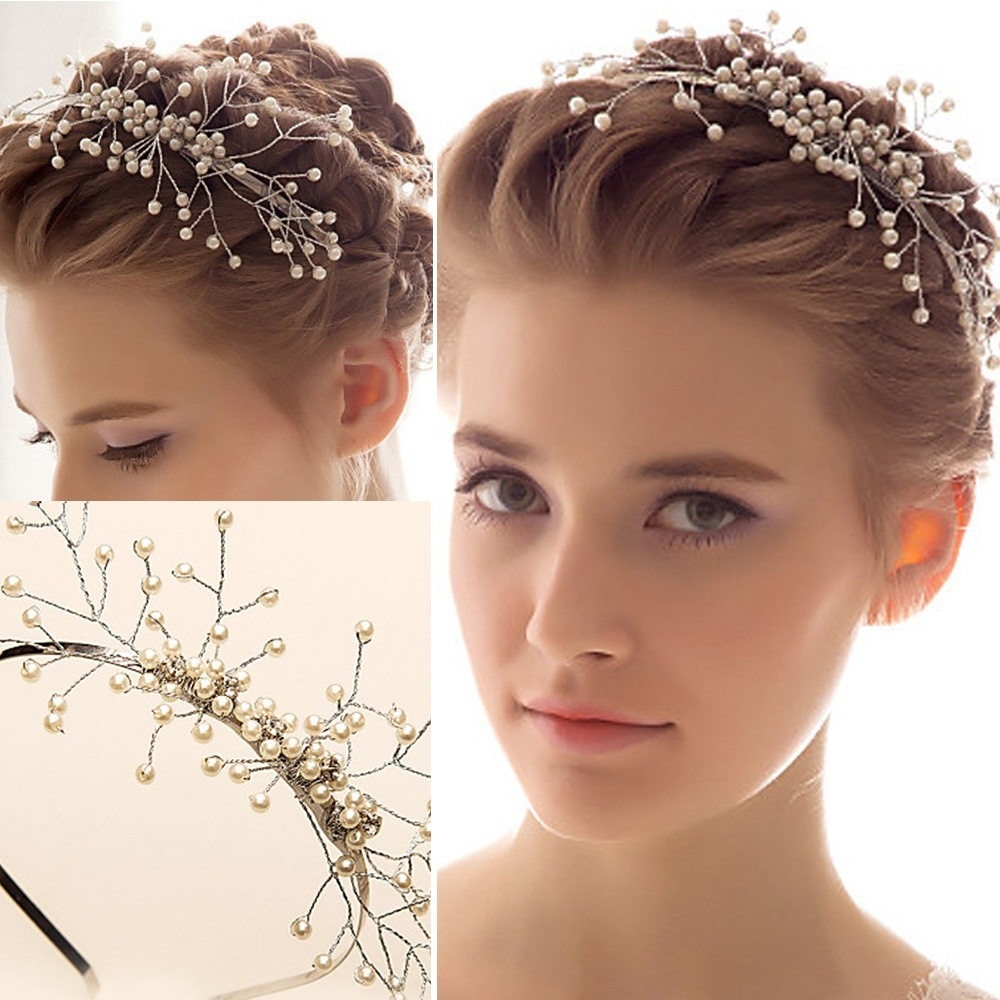 Trend Hairstyle And Haircut Ideas Inside Popular Wedding Hairstyles For Short Hair With Tiara (View 9 of 15)