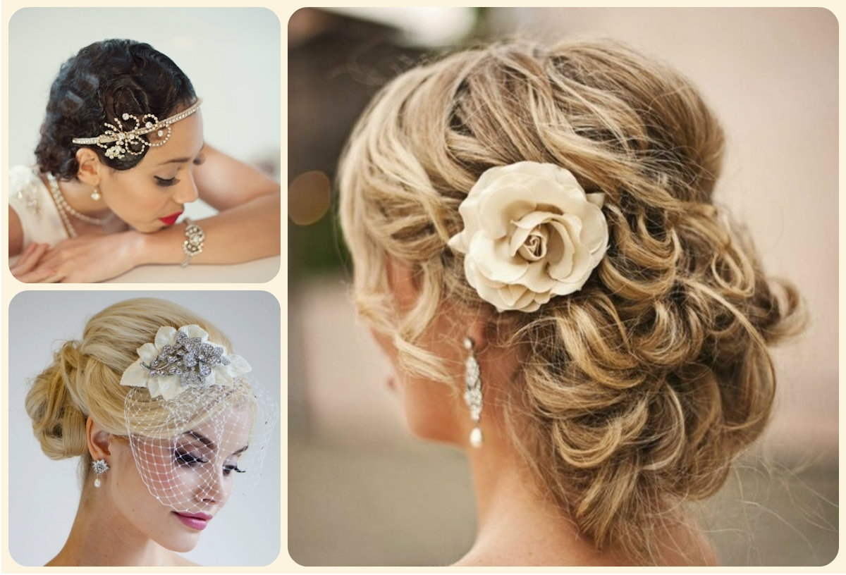 Trend Hairstyle And Haircut Ideas With Regard To Widely Used Updos Wedding Hairstyles With Fascinators (View 13 of 15)