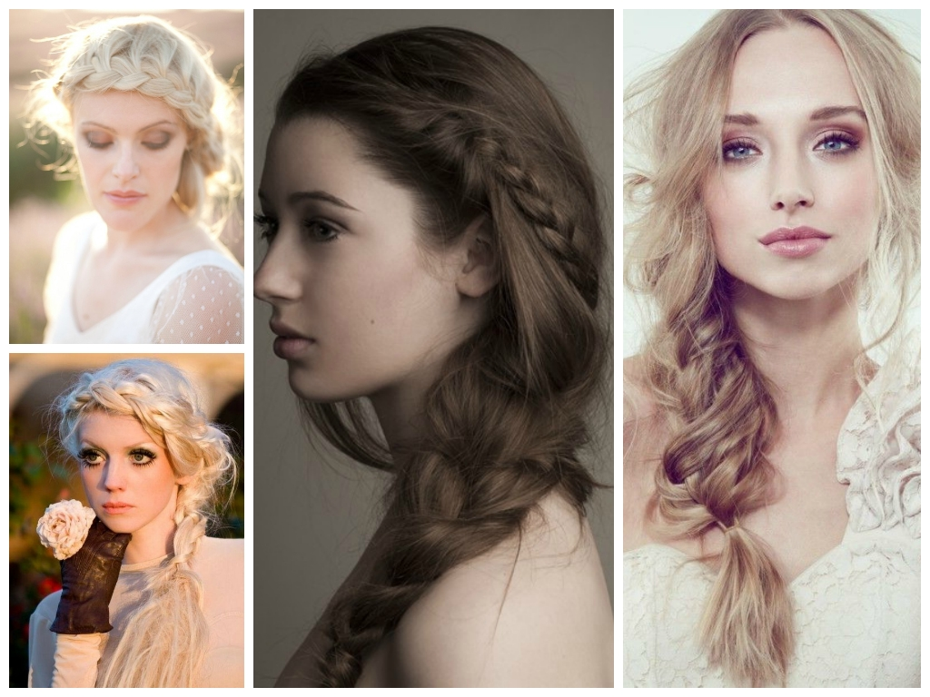 Trending Bridal Hairstyles And Make Up Themes In 2014 With Well Known Wedding Hairstyles And Makeup (Gallery 9 of 15)