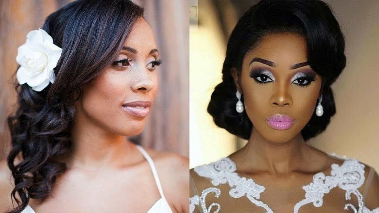 Trendy Black Wedding Hairstyles In 2018 Wedding Hairstyles For Black Women – Youtube (View 10 of 15)