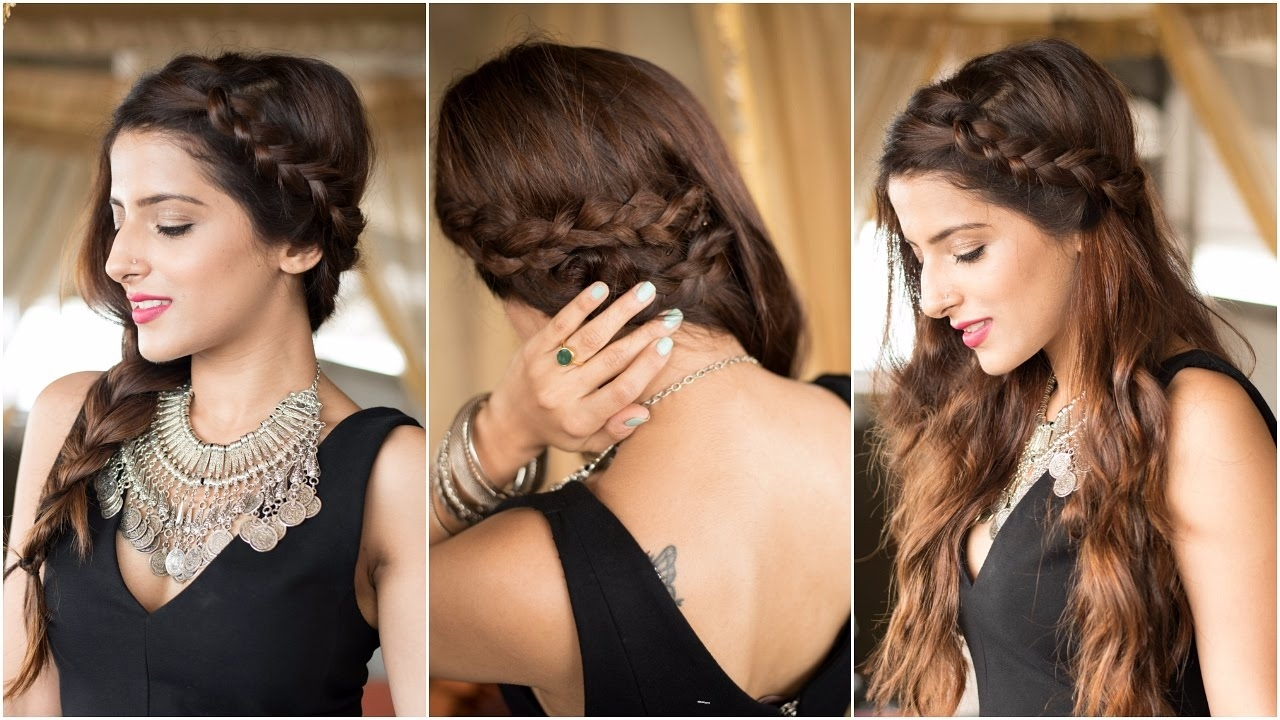 Trendy Braided Hairstyles For Long Hair Indian Wedding Intended For 3 Party Hairstyles – How To : Cute & Easy Braid Hairstyles For (View 8 of 15)