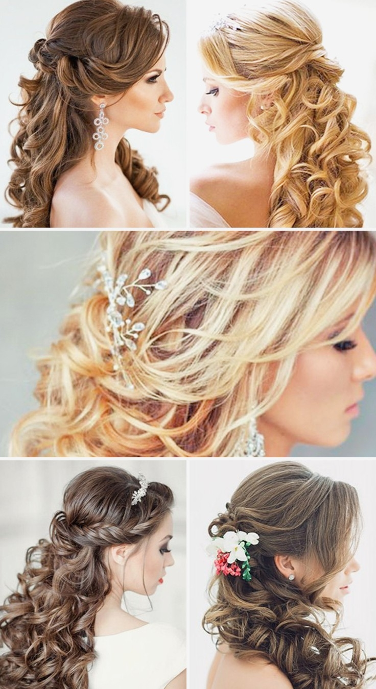 Trendy Curls Down Wedding Hairstyles Pertaining To Curly Hairstyles : Down Curly Wedding Hairstyles Images In Hair (View 9 of 15)