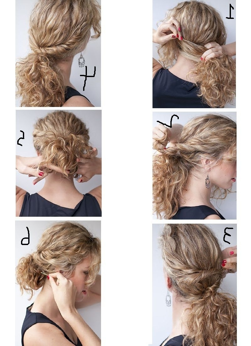 Trendy Easy Wedding Hairstyles For Long Curly Hair In Cute Updo Hairstyles For Short Curly Hair – The Newest Hairstyles (View 15 of 15)
