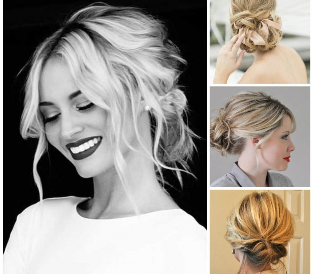 Trendy Elegant Wedding Hairstyles For Shoulder Length Hair In Bridal Hairstyles Medium Length Hair Down Wedding Partial Updos For (View 11 of 15)