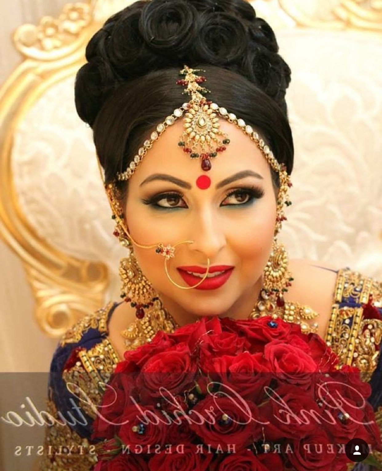 Trendy Indian Wedding Hairstyles Throughout Pakistani Wedding Hairstyles Best Bridal Makeup Ideas On For Long (View 13 of 15)