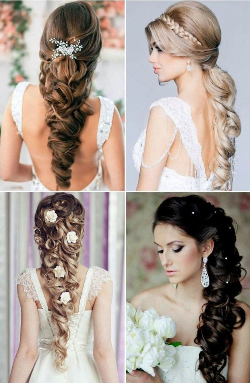 Trendy Put Up Wedding Hairstyles For Long Hair Intended For Up Hairstyles For Wedding Ideas Elegant Bridal Half Down With Braids (View 14 of 15)