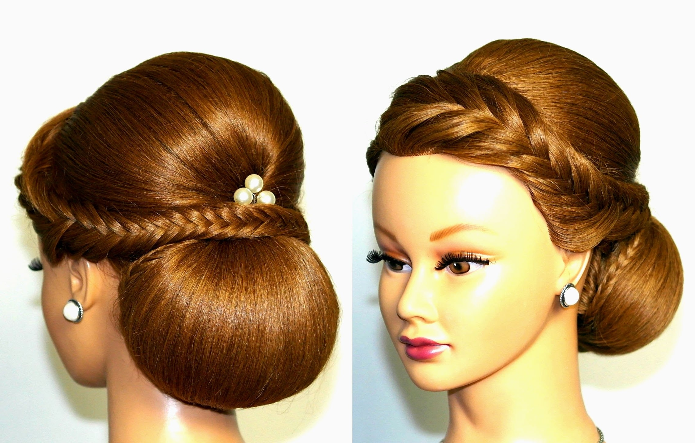 Trendy Put Up Wedding Hairstyles For Long Hair Within Wedding Hairstyle For Medium Long Hair, Elegant Updo (View 12 of 15)