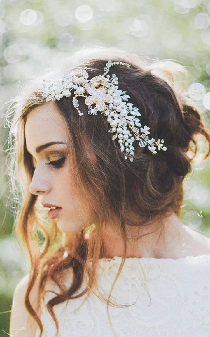Trendy Romantic Wedding Hairstyles Regarding Romantic Wedding Hairstyles (View 10 of 15)