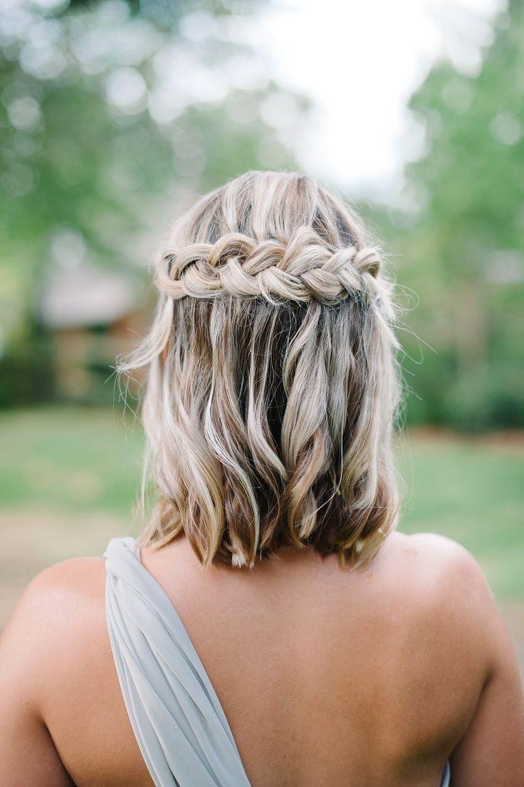 Trendy Short Wedding Hairstyles For Bridesmaids Regarding Beautiful Easy Going Wedding (View 4 of 15)