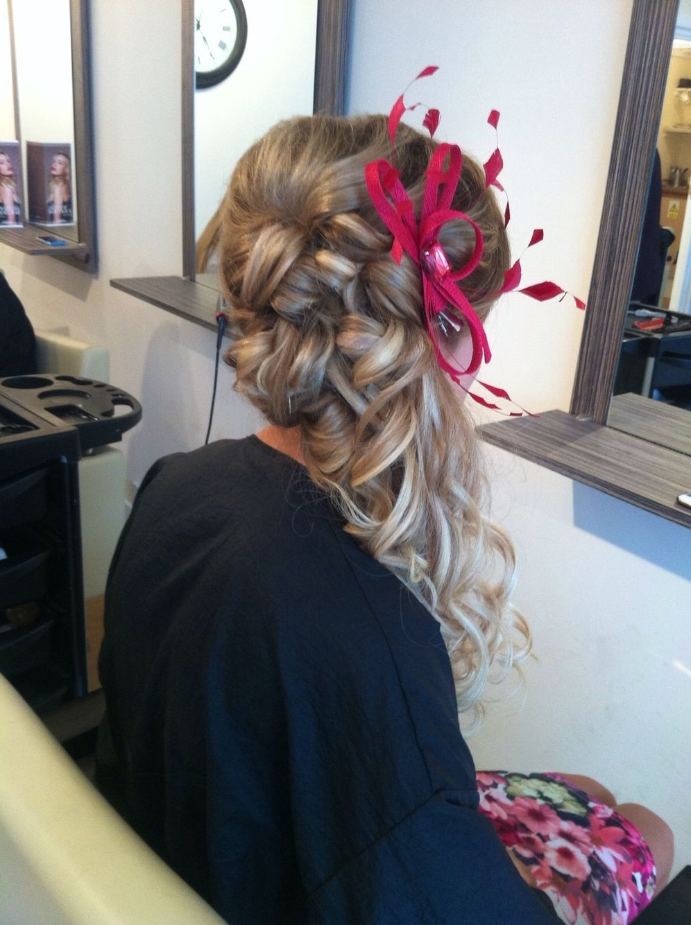 Trendy Wedding Guest Hairstyles For Long Hair With Fascinator With Wedding Guest Hair, Updo, Fascinator, Long Hair (View 4 of 15)