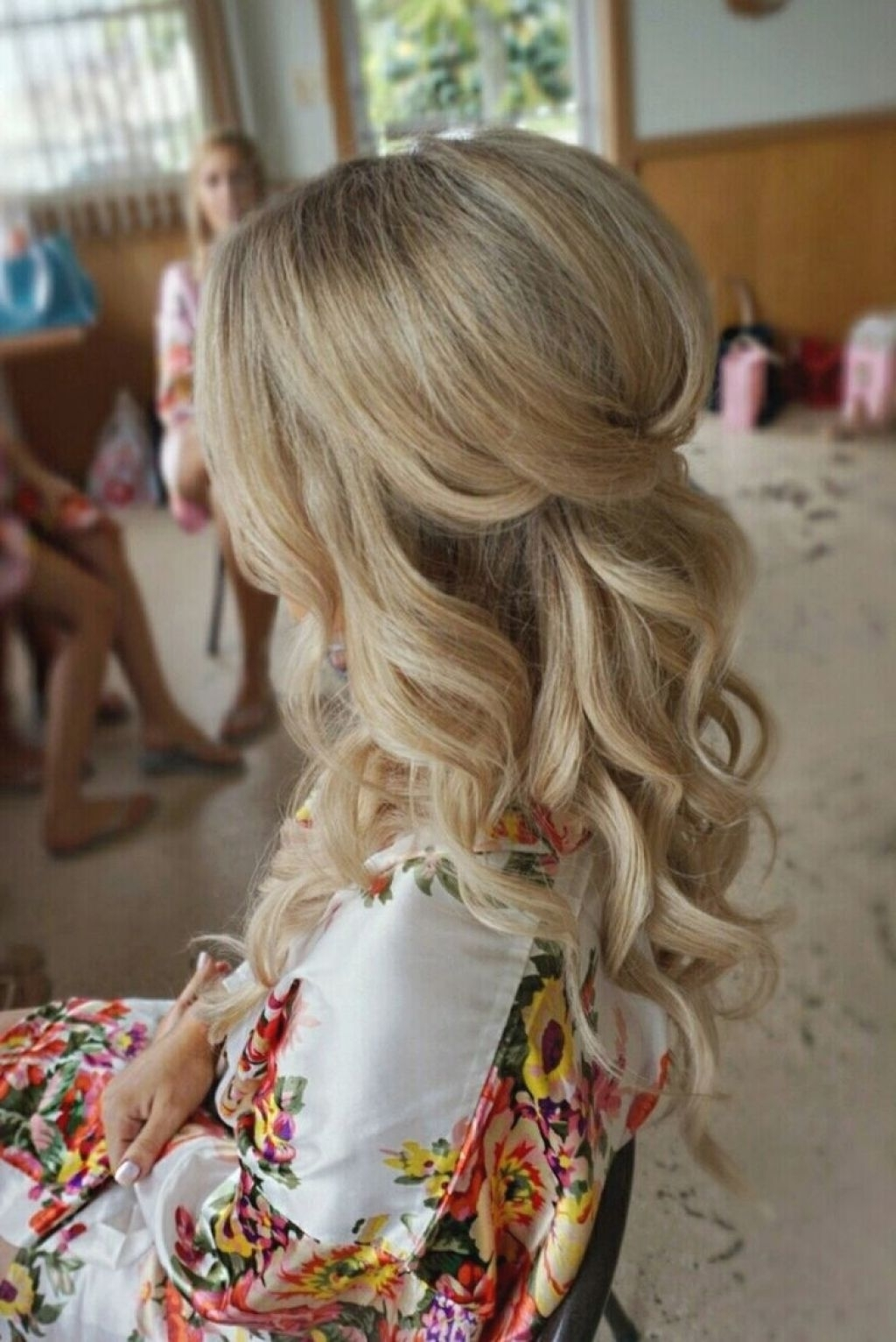 Trendy Wedding Hairstyles For Bridesmaids Throughout √ 24+ Awesome Wedding Hairstyles For Bridesmaids: Wedding (View 4 of 15)